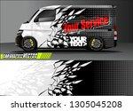 van livery design vector.... | Shutterstock .eps vector #1305045208