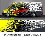 van livery design vector.... | Shutterstock .eps vector #1305045235
