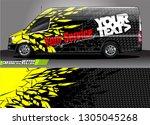 van livery design vector.... | Shutterstock .eps vector #1305045268