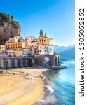 morning view of amalfi... | Shutterstock . vector #1305052852