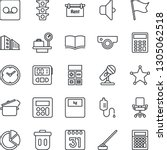 thin line icon set   luggage... | Shutterstock .eps vector #1305062518