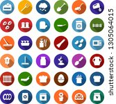 color back flat icon set  ... | Shutterstock .eps vector #1305064015
