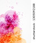 abstract background with... | Shutterstock .eps vector #1305092188