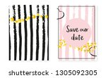 bridal shower card with dots... | Shutterstock .eps vector #1305092305