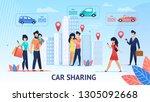 car sharing. short trips for... | Shutterstock .eps vector #1305092668