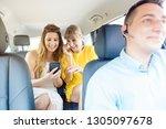 girlfriends using their phones...   Shutterstock . vector #1305097678
