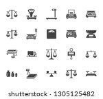 balance flat glyph icons set.... | Shutterstock .eps vector #1305125482