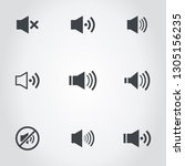 set of icons of a sound. a... | Shutterstock .eps vector #1305156235