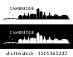 cambridge skyline ... | Shutterstock .eps vector #1305165232