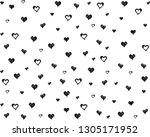 vector of hearts painted paint. | Shutterstock .eps vector #1305171952