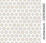 hexagon halftone seamless... | Shutterstock .eps vector #1305180682