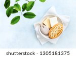 spa setting with basic hygiene... | Shutterstock . vector #1305181375