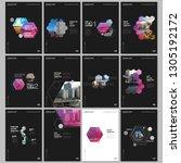 minimal brochure templates with ... | Shutterstock .eps vector #1305192172