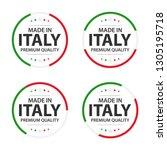 set of four italian icons ... | Shutterstock .eps vector #1305195718