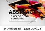 3d geometric triangular shapes... | Shutterstock .eps vector #1305209125