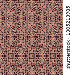 seamless abstract woven pattern | Shutterstock .eps vector #1305213985