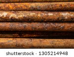 scenic rusty fittings. texture... | Shutterstock . vector #1305214948