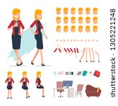 business people creation... | Shutterstock .eps vector #1305221248