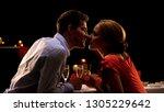 man giving seductive girlfriend ...   Shutterstock . vector #1305229642