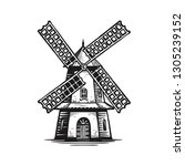 Old Wooden Windmill  Sketch....