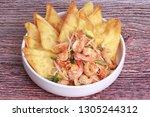 popular thai recipe pad thai...   Shutterstock . vector #1305244312