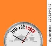 time for lunch. white vector... | Shutterstock .eps vector #1305244342