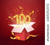 100 th years number anniversary ... | Shutterstock .eps vector #1305251572