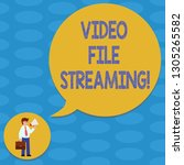 word writing text video file... | Shutterstock . vector #1305265582