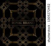 luxury premium background with... | Shutterstock .eps vector #1305272452