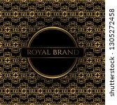 luxury premium background with... | Shutterstock .eps vector #1305272458