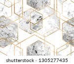 vector seamless geometric art... | Shutterstock .eps vector #1305277435