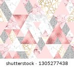 vector seamless geometric... | Shutterstock .eps vector #1305277438