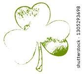 grunge clover shamrock leaf...   Shutterstock .eps vector #1305293698