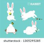 illustration vector cute flat... | Shutterstock .eps vector #1305295285