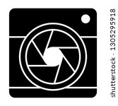 camera with aperture solid icon.... | Shutterstock .eps vector #1305295918