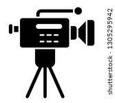 movie camera on a tripod solid... | Shutterstock .eps vector #1305295942