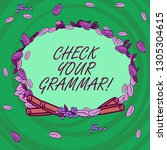 writing note showing check your ... | Shutterstock . vector #1305304615