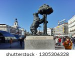 madrid  spain   january 22 ... | Shutterstock . vector #1305306328