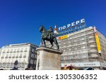madrid  spain   january 22 ... | Shutterstock . vector #1305306352