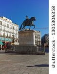 madrid  spain   january 22 ... | Shutterstock . vector #1305306358