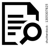 document search vector icon | Shutterstock .eps vector #1305307825