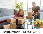 online selling by internet.... | Shutterstock . vector #1305319318