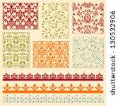 vector bright seamless paterns... | Shutterstock .eps vector #130532906