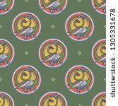 seamless geometrical pattern... | Shutterstock .eps vector #1305331678