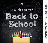 back to school background ... | Shutterstock .eps vector #130533188
