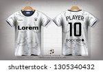 soccer jersey and t shirt sport ...   Shutterstock .eps vector #1305340432