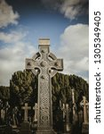 aged rough irish cross... | Shutterstock . vector #1305349405