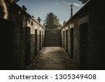perspective view of brick... | Shutterstock . vector #1305349408