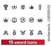 award icons  vector set of... | Shutterstock .eps vector #130535102