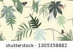 botanical seamless pattern ... | Shutterstock .eps vector #1305358882